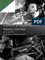Carlos DOMINGUEZ - Batteur