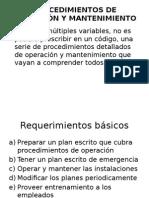 Procedimientos de Operación y Mantenimiento