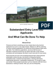Substandard Entry Level Job Applicants and What Can Be Done To Help