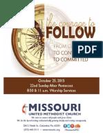 October 25, 2015 Bulletin