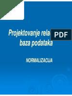 Predavanja normalizacija