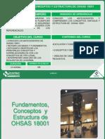 Fundamentos, Conceptos y Estructura de Ohsas 18001-2007