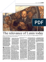 Relevance of Lenin Today