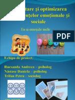 Dezvoltarea Si Optimizarea Competentelor Emotionale Si Sociale