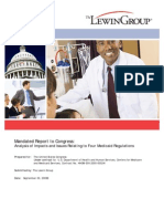 093009 Lewin Group Mandated Report to Congress on Four Medicaid Regulations