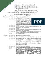 Programa Del Segundo Congreso de Sustentabilidad