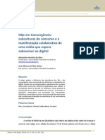 3. HQs em Convergência - subculturas do consumo e a manifestação colaborativa de uma mídia que espera sobreviver ao digital (InTexto, 2012)