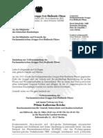 Einladung Parlamentarische Gruppe Frei fließende Flüsse - März 2010