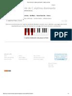 Piano Chord de C Séptima Dominante_ C Séptima Acordes