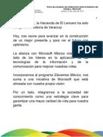 23 06 2011 - Firma de Convenios de Colaboración entre el Gobierno del Estado y Microsoft