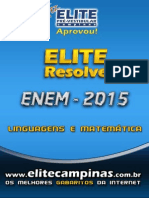 Elite Resolve ENEM 2015 Linguagens-Matematica