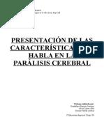 Caracterc3adsticas Del Habla en La Parc3a1lisis Cerebral1