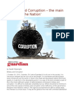 'Bribery and Corruption – the Main Enemy of the Nation'