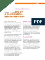 Entrepreneuial Traits