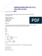 Soal Dan Pembahasan Kimia Kelas Xii