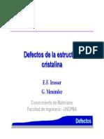 Defectos de la estructura cristalina