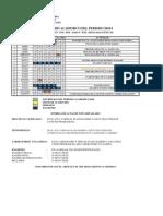 Calendario Academico 2010-1 FIM UNI