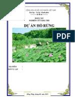 Lap Du an Ho Rung Khu Bao Ton Va Phat Trien Du Lich Sinh Thai