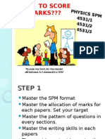 How to Score Marks Spm 2015