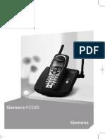 teléfono inalámbrico Siemens A5500