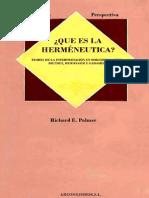 Palmer Richard E - Que Es La Hermeneutica