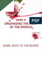 Organizing the body of speech