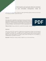 Aplicação Do Design Participativo Para Geração Ideias de Produtos