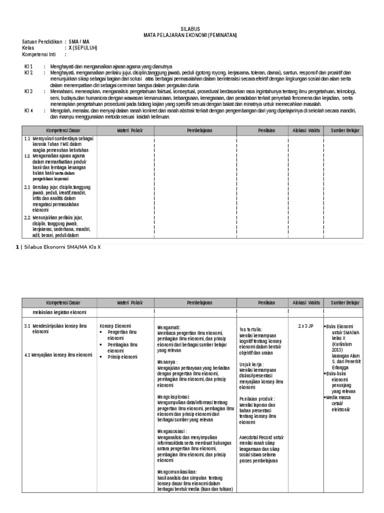 Download Silabus Ekonomi Kelas Xii Kurikulum 2013 Revisi ...