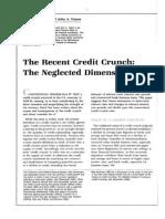 Credit Crunch Theory