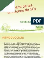 control de emisiones de SO2