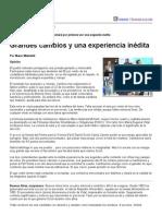Página_12 __ El País __ Grandes Cambios y Una Experiencia Inédita