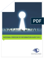 National Freedom of Information Audit 2015 Final