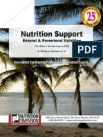 Nutrition Support Enteral & Parenteral Nutrition