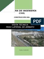 Visita Tecnica Al Paso Lateral de Ambato