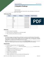 6.5.1.2 Packet Tracer Skills Integration Challenge Instructions