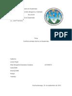 Conflicto Armado Interno Guatemala
