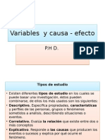 Causa y Variables