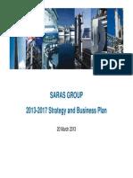 Saras Capital Markets Day - BP 2013-17 - FINAL