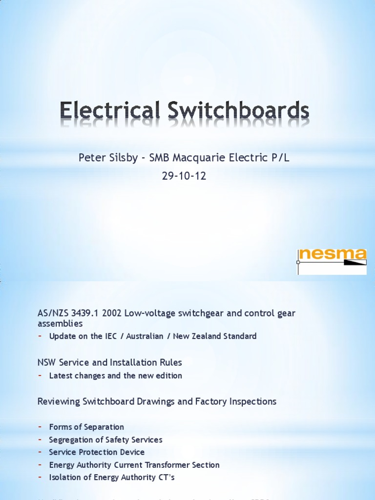 Switchboards Electrical Wiring Substation Switchboard Nz