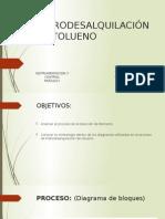 HIDRODESALQUILACIÓN DE TOLUENO