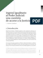 Ingreso Igualitario Al Poder Judicial