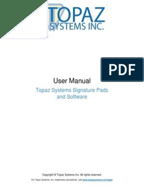 TOPAZ SYSTEMS T-S751-HSB-R SIGNATUREGEM 4X5 USB INCLUDES SIGPLUS SOFTWARE
