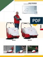 Push Floor Sweepers   RCM Brava 1000 Walk Behind Floor Vacuum Sweeper