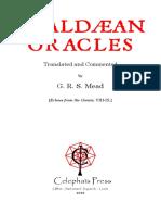 Mead - Chaldean Oracles