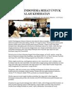 Program Indonesia Sehat Untuk Atasi Masalah Kesehatan