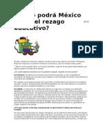 Cómo podrá México salir del rezago educativo