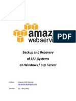 Backup and Recovery of Sap Systems on Aws for Windows SQL Server v1.1