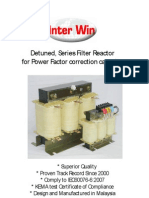 Detuned, Series Filter Reactor for Power Factor Corection Capacitor