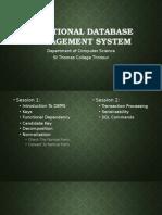 Relational Database Management System NET 2015 SESSION 1