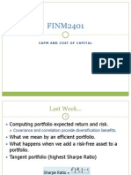 Lecture 10 FINM2401 CAPM and cost of capital